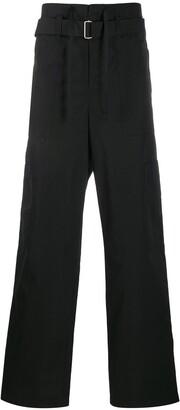 Ambush belted straight-leg cargo trousers