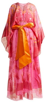Zandra Rhodes Summer Collection The 1973 Field Of Lilies Gown - Womens - Fuchsia