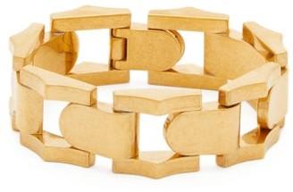 Saint Laurent Geometric Chain-link Bracelet - Gold