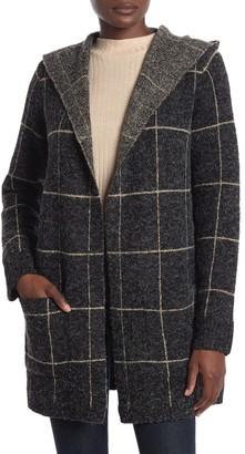 Cyrus Windowpane Hooded Coat