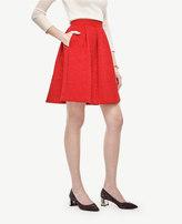 Ann Taylor Petite Jacquard Pleated Full Skirt
