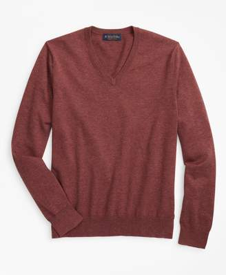 Brooks Brothers Big & Tall Supima Cotton V-Neck Sweater
