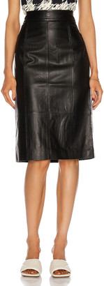Proenza Schouler White Label Lightweight Leather Pencil Skirt in Black | FWRD