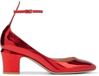 Valentino Tango Mirrored-leather Pumps