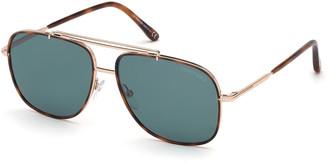 Tom Ford Men's Benton Aviator Sunglasses