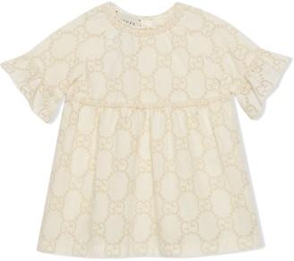 Gucci Kids Monogram Pattern Dress