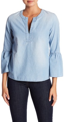 J.Crew Chambray Bell Sleeve Top