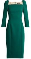 Dolce & Gabbana Square-neck stretch-wool pencil dress