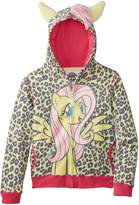 My Little Pony Big Girls' Fluttershy Hoodie, Yellow Multi, 12/14/Large