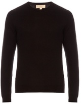 Burberry Brit Long-sleeved Cashmere And Cotton-blend Sweater