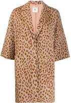 Semi-Couture Semicouture oversized leopard print coat