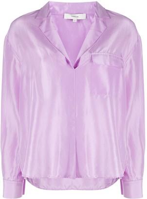 Vince Silk Pyjama Style Blouse