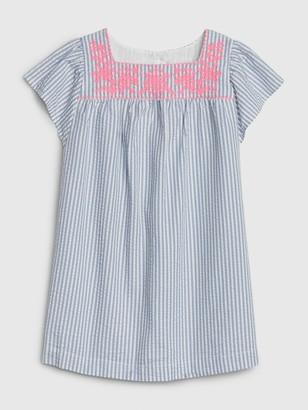 Gap Toddler Embroidered Squareneck Dress