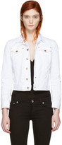 DSQUARED2 White Cropped Denim Jacket