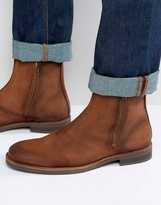 Jack and Jones Zippy Waxed Suede Boots
