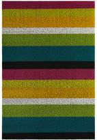 Chilewich Large Stripe Shag Rug - Multi - 61x91cm