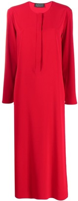 Gianluca Capannolo Side Split Long Sleeve Dress