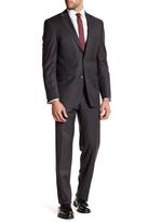 Ike Behar Wool Pinstripe Suit