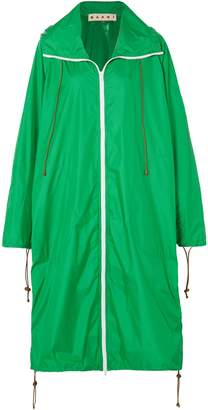 Marni Oversized Shell Hooded Raincoat