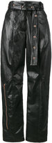 Proenza Schouler leather high waisted straight pants