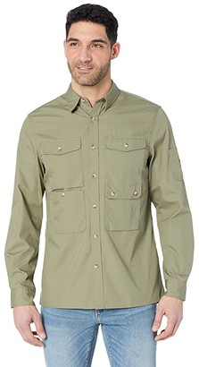 Fjallraven Ovik Shade Pocket Shirt (Green) Men's Long Sleeve Button Up