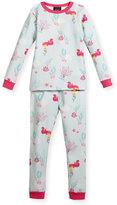 BedHead Jersey Mermaid Pajama Set, Aqua/Fuchsia, Size 10-14