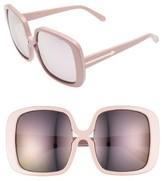 Karen Walker Women's Marques 55Mm Square Sunglasses - Crazy Tortoise/ Gold