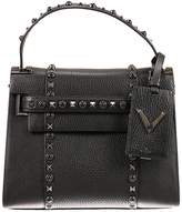 Valentino Tote Bags My Rockstud 1 Handle In Hammered Leather Bag With Studs And Stones