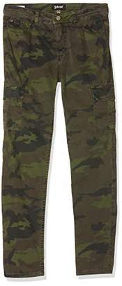 Schott NYC Women's TR CARGO SLIM W Straight Trousers,L