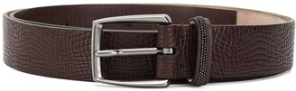 Brunello Cucinelli Lizard-Effect Belt