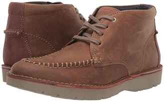 Clarks Vargo Apron (Dark Tan Leather) Men's Shoes