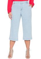 ELOQUII Plus Size Wide Leg Cropped Jean