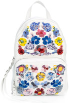 Alexander McQueen floral embroidered backpack