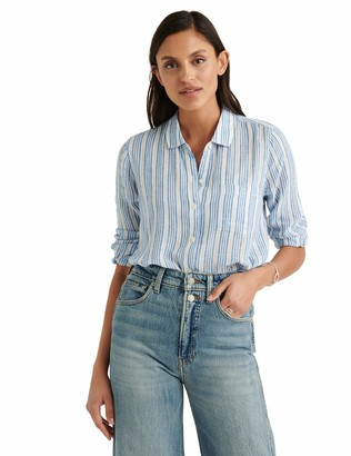 Lucky Brand Women's Long Sleeve Classic Button Front Shirt