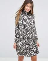 Asos Swing Dress in Paisley Print