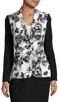 T Tahari Floral Contrast Jacket