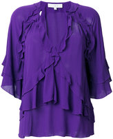 IRO ruffled V-neck blouse - women - Viscose - 40