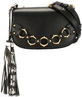 Roberto Cavalli hanging tassel crossbody bag
