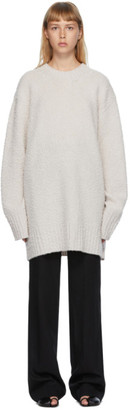 Maison Margiela Off-White Pilled Oversized Sweater