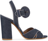 Tabitha Simmons Andres denim sandals - women - Cotton/Leather - 35