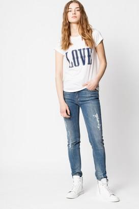 Zadig & Voltaire Skinny Love Western Print T-shirt