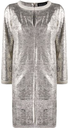Gianluca Capannolo Metallic Shift Dress