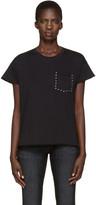 Rag & Bone Black Vintage Crew Studs T-shirt