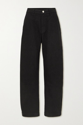Gold Sign The Low Curve High-rise Tapered Jeans - Black