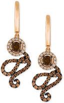 LeVian Le Vian Chocolatier® Diamond Swirl Drop Earrings (1-1/4 ct. t.w.) in 14k Rose Gold