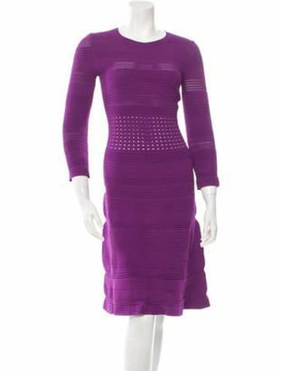 No.21 No. 21 Half-Sleeve Flared Dress Violet No. 21 Half-Sleeve Flared Dress