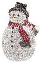 Nadri Jolly Snowman Pin