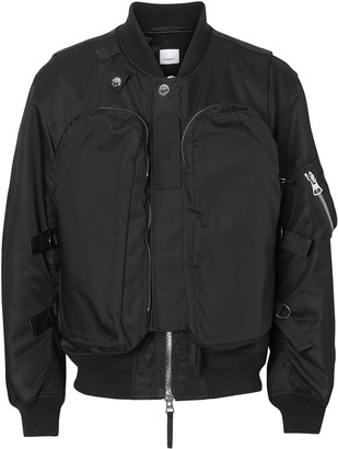 Burberry Nylon Twill Bomber Jacket with Detachable Gilet