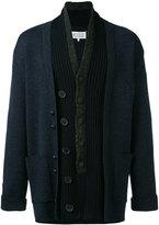 Maison Margiela layered placket cardigan - men - Polyamide/Wool - M