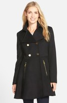 Laundry by Shelli Segal Women's Double Breasted Fit & Flare Coat